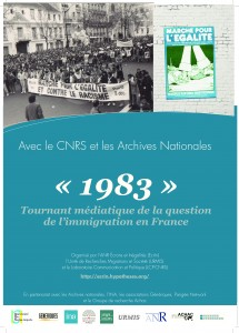 Colloque « 1983 » Tournant médiatique de la question de l'immigration en France, les 25 et 26 mars à Paris