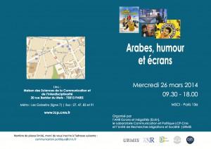 Programme Arabes, humour et écrans_Ecrin Humour_26mars2014